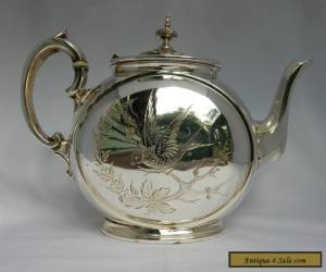 Antique Victorian 1870's RARE SHAPE Philip Ashberry & Sons Silver Plated Teapot for Sale