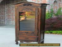 Antique French Oak Lierges Bonnetiere Cabinet Vitrine Cupboard Bookcase STUNNING