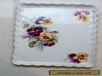 PLATE - PANSY - VIOLA PATTERN - SCALLOPED EDGE - ANTIQUE / VINTAGE