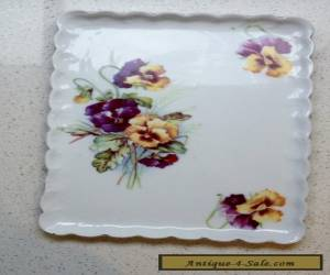 PLATE - PANSY - VIOLA PATTERN - SCALLOPED EDGE - ANTIQUE / VINTAGE for Sale