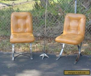 Pair of Mid Century Modern Barcelona Style Side Accent Chairs Baughman Style for Sale