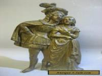Vintage antique hand made brass figurine