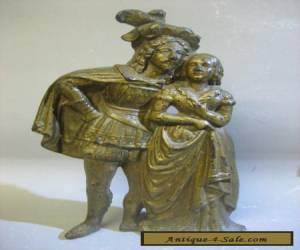 Vintage antique hand made brass figurine  for Sale