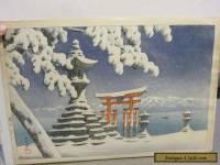 KAWASE HASUI JAPANESE WOODBLOCK SNOW AT ITSUKUSHIMA RARE