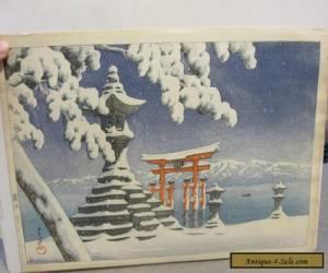 KAWASE HASUI JAPANESE WOODBLOCK SNOW AT ITSUKUSHIMA RARE for Sale