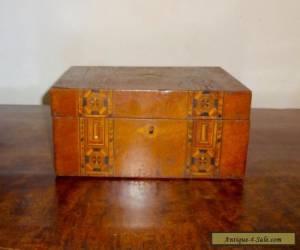 "ANTIQUE TUNBRIDGE WARE WOODEN BOX, 10.5"" x 6"", VICTORIAN, VINTAGE for Sale"