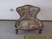 Vintage French Provincial Parlor CHAIR Carved Walnut Beautiful