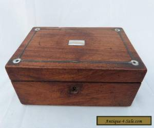 LOVELY ANTIQUE INLAID MOTHER OF PEARL WOODEN BOX. for Sale