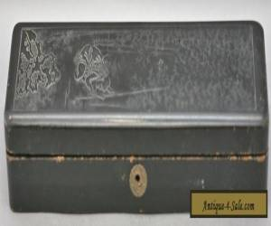 Fantastic Antique Japanese Lacquer Wooden Box w/Embossed Design Circa 1800s for Sale