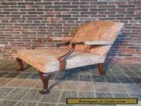 George III Style Mahogany Arm Chair 20th Century