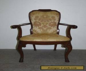 Antique Hand Carved Dining Arm Chair Hoofed Feet Shell Chippendale 112707 for Sale