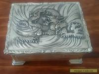 Antique Japanese silver cigarette box