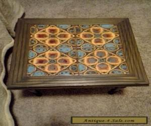 Vintage California Mission Monterey Style Tile Top Table Catalina? for Sale