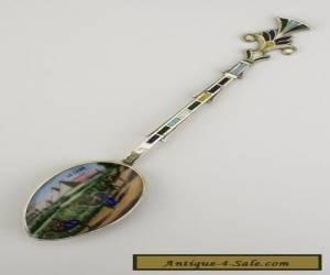 A Silver and Enamel Egyptian Cairo  Egypt Souvenir Spoon 1930's for Sale