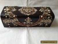 antique wooden jewelry gloves box