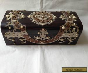 antique wooden jewelry gloves box for Sale