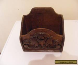 Victorian oak stationary box with raised foliage carving  for Sale