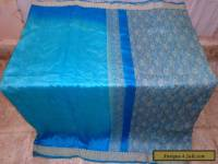 AU Pure silk Antique Vintage Sari Saree Fabric REUSE 4y S15 Weaving #01Z9E