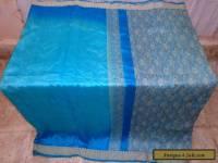 AU Pure silk Antique Vintage Sari Saree Fabric REUSE 4y S15 Weaving #01Z9E