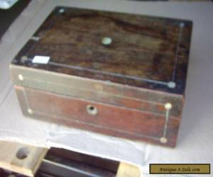 VINTAGE  ROSEWOOD BOX FOR RESTORATION for Sale