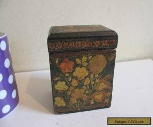 painted wooden playing cards box circa 1900? for Sale