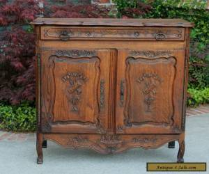 Antique French Lierges Style Oak Cabinet Cupboard Entry Hall Foyer Chest Pegged  for Sale