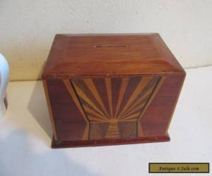 inlaid wooden money box for Sale