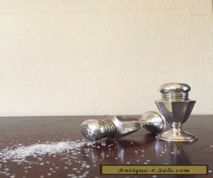 Salt and Pepper Shaker Pair, Sterling Silver, Vintage,  for Sale