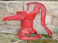 Vintage Cast Iron RED JACKET Hand WATER PUMP