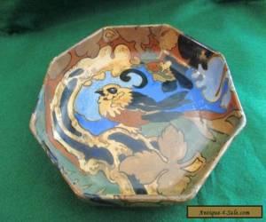 FREDERICK RHEAD ART DECO BURSLEY WARE AMSTEL HEXAGONAL BOWL,HANDPAINTED C-1930,S for Sale