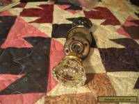 Two Nice Old Vintage Architectural Glass Door Handles Knobs