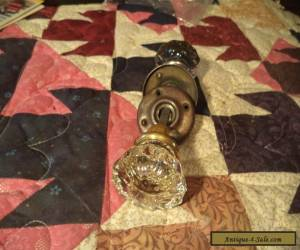 Two Nice Old Vintage Architectural Glass Door Handles Knobs for Sale