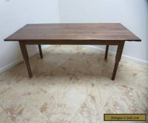 Antique Primitive Oak Country Farm Work Jenny Lynn  Dining Table  for Sale