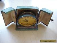 Vintage Bayard Oval Carriage Bedside French Alarm Clock in Original Case A/F