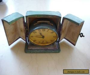 Vintage Bayard Oval Carriage Bedside French Alarm Clock in Original Case A/F  for Sale