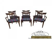 Vintage Mid Century Modern Set of 6 Walnut Dining Chairs