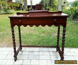 Period GOTHIC RENNAISSANCE VICTORIAN WALNUT WOOD WRITING Desk Vintage Antique   for Sale