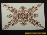 Antique Fabrica Do Desterro Lisboa ceramic tile. Sepia brown pattern