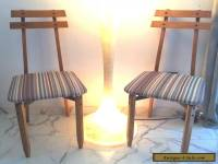 STUNNING  Mid Century Modern Pair of Danish Wood Chairs Style Era Design