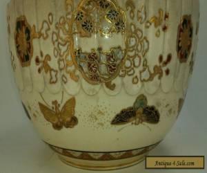 Item Late Meiji kyoto type Satsuma scalloped bowl Dai Nihon for Sale