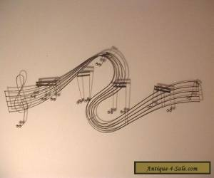 Vintage Mid Century Modern Musical Notes Wall Sculpture  for Sale