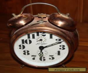 Jerger alarm clock German Made Modern Style In Gold WIND UP for Sale