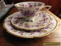 MITTERTEICH BAVARIA TRIO VIOLETS with GOLD TRIM