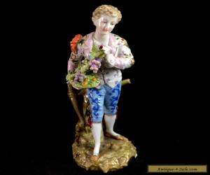 Volkstedt Triebner Eckert Vintage Dresden Boy with Grapes Porcelain Figurine Man for Sale