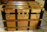 1800's Antique Victorian Steamer Trunk Chest /Lift out Tray for Sale