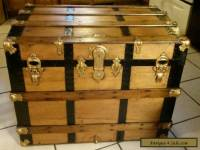 1800's Antique Victorian Steamer Trunk Chest /Lift out Tray