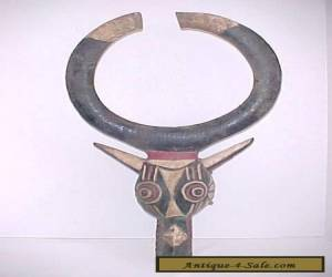 African Water Buffalo Mask Bwa Burkina Faso Vintage State Department for Sale