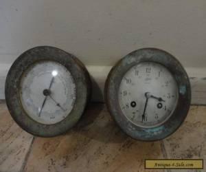 Antique/vintage schatz ships clock and barometer for Sale