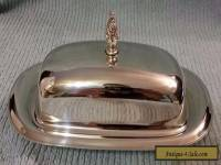 VINTAGE WM ROGERS SILVERPLATE COVERED BUTTER DISH