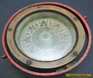 Antique Maritime Naval ~ E S Ritchie Brass Ships Compass #79571 ~ Boston for Sale